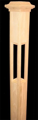 Open newel with trusty cap